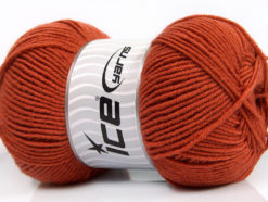 Lot of 4 x 100gr Skeins Ice Yarns ELITE WOOL (30% Wool) Yarn Terra Cotta