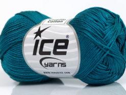 Lot of 6 Skeins Ice Yarns CAMILLA COTTON (100% Mercerized Cotton) Yarn Dark Turquoise