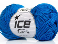 Lot of 6 Skeins Ice Yarns CAMILLA COTTON (100% Mercerized Cotton) Yarn Dark Blue