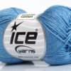 Lot of 6 Skeins Ice Yarns CAMILLA COTTON (100% Mercerized Cotton) Yarn Jeans Blue
