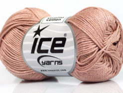 Lot of 6 Skeins Ice Yarns CAMILLA COTTON (100% Mercerized Cotton) Yarn Powder Pink