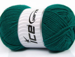 Lot of 4 x 100gr Skeins Ice Yarns DORA Hand Knitting Yarn Dark Green