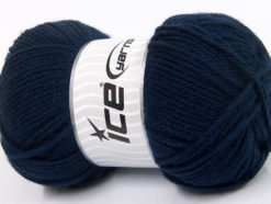 Lot of 4 x 100gr Skeins Ice Yarns Worsted FAVORITE Hand Knitting Yarn Navy