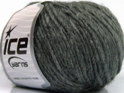 Lot of 8 Skeins Ice Yarns WOOL CORD BULKY (50% Wool) Yarn Grey Melange