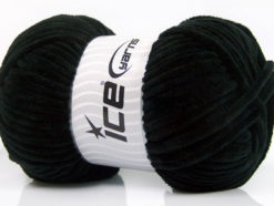 Lot of 4 x 100gr Skeins Ice Yarns CHENILLE BABY (100% MicroFiber) Yarn Black