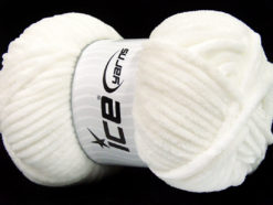 Lot of 4 x 100gr Skeins Ice Yarns CHENILLE BABY (100% MicroFiber) Yarn White
