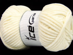 Lot of 4 x 100gr Skeins Ice Yarns CHENILLE BABY (100% MicroFiber) Yarn Cream