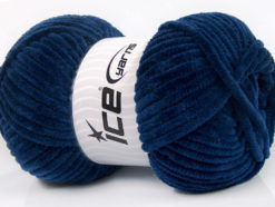Lot of 4 x 100gr Skeins Ice Yarns CHENILLE BABY (100% MicroFiber) Yarn Navy