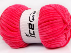 Lot of 4 x 100gr Skeins Ice Yarns CHENILLE BABY (100% MicroFiber) Yarn Candy Pink