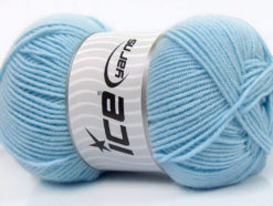 Lot of 4 x 100gr Skeins Ice Yarns BAMBOO SOFT FINE (50% Bamboo) Yarn Baby Blue