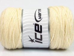 Lot of 2 x 200gr Skeins Ice Yarns SAVER Hand Knitting Yarn Cream
