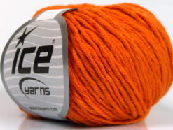 Lot of 8 Skeins Ice Yarns PLY WOOL BULKY (45% Wool) Hand Knitting Yarn Orange