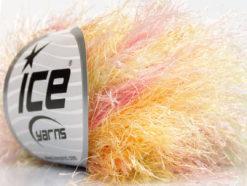 Lot of 8 Skeins Ice Yarns LONG EYELASH COLORFUL Yarn Pink Green Yellow Cream