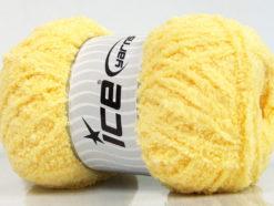 Lot of 4 x 100gr Skeins Ice Yarns PUFFY (100% MicroFiber) Yarn Yellow