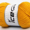 Lot of 4 x 100gr Skeins Ice Yarns DORA Hand Knitting Yarn Gold