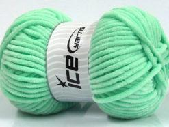 Lot of 4 x 100gr Skeins Ice Yarns CHENILLE BABY (100% MicroFiber) Yarn Mint Green
