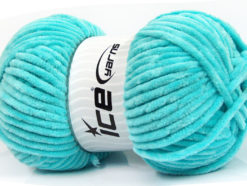 Lot of 4 x 100gr Skeins Ice Yarns CHENILLE BABY (100% MicroFiber) Yarn Turquoise