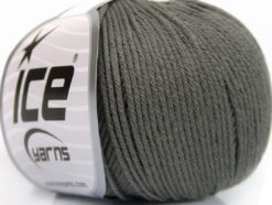Lot of 4 Skeins Ice Yarns ORGANIC BABY COTTON (100% Organic Cotton) Yarn Grey