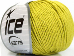Lot of 4 Skeins Ice Yarns ORGANIC BABY COTTON (100% Organic Cotton) Yarn Light Olive Green