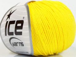 Lot of 4 Skeins Ice Yarns ORGANIC BABY COTTON (100% Organic Cotton) Yarn Yellow