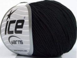Lot of 4 Skeins Ice Yarns ORGANIC BABY COTTON (100% Organic Cotton) Yarn Black