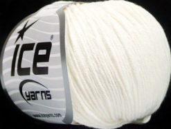 Lot of 4 Skeins Ice Yarns ORGANIC BABY COTTON (100% Organic Cotton) Yarn White