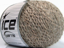 Lot of 8 Skeins Ice Yarns ROBIN ALPACA (19% Alpaca 42% Wool) Yarn Beige Melange