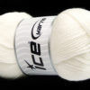 Lot of 4 x 100gr Skeins Ice Yarns DORA Hand Knitting Yarn Off White