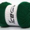 Lot of 4 x 100gr Skeins Ice Yarns DORA Hand Knitting Yarn Emerald Green