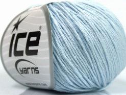 Lot of 4 Skeins Ice Yarns ORGANIC BABY COTTON (100% Organic Cotton) Yarn Light Blue