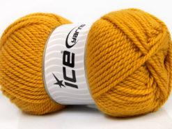 Lot of 4 x 100gr Skeins Ice Yarns Bulky ATLAS Hand Knitting Yarn Gold