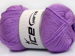 Lot of 4 x 100gr Skeins Ice Yarns DORA Hand Knitting Yarn Lavender
