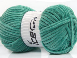 Lot of 4 x 100gr Skeins Ice Yarns CHENILLE BABY (100% MicroFiber) Yarn Green