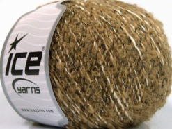 Lot of 8 Skeins Ice Yarns BOLOGNA LANA (25% Wool 48% Cotton) Yarn Camel White