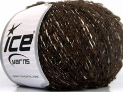 Lot of 8 Skeins Ice Yarns BOLOGNA LANA (25% Wool 48% Cotton) Yarn Brown White