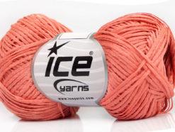 Lot of 8 Skeins Ice Yarns FETTUCCIA FINE Hand Knitting Yarn Salmon