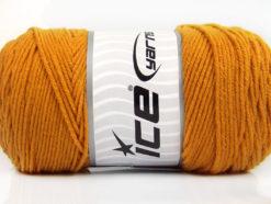 Lot of 2 x 200gr Skeins Ice Yarns SAVER Hand Knitting Yarn Gold