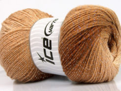 Lot of 4 x 100gr Skeins Ice Yarns MAGIC GLITZ Hand Knitting Yarn Brown Shades