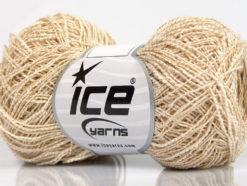 Lot of 8 Skeins Ice Yarns PEPERONCINO (62% Cotton 23% Viscose) Yarn Cream