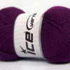 Lot of 4 x 100gr Skeins Ice Yarns DORA Hand Knitting Yarn Purple