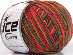 Lot of 8 Skeins Ice Yarns WOOL DK COLOR (50% Wool) Yarn Pink Maroon Green Shades