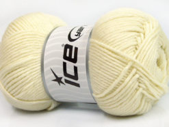 Lot of 3 x 100gr Skeins Ice Yarns BABY COMFORT Hand Knitting Yarn Cream