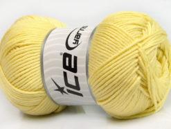 Lot of 3 x 100gr Skeins Ice Yarns BABY COMFORT Hand Knitting Yarn Light Yellow