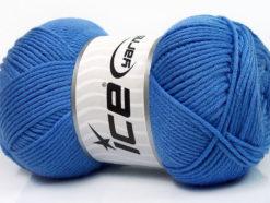 Lot of 3 x 100gr Skeins Ice Yarns BABY COMFORT Hand Knitting Yarn Blue