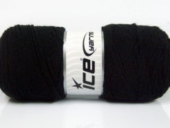 Lot of 4 x 100gr Skeins Ice Yarns BONITO (50% Wool) Hand Knitting Yarn Black