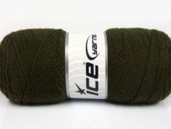 Lot of 4 x 100gr Skeins Ice Yarns BONITO (50% Wool) Yarn Dark Khaki