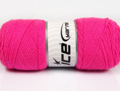 Lot of 4 x 100gr Skeins Ice Yarns BONITO (50% Wool) Hand Knitting Yarn Pink