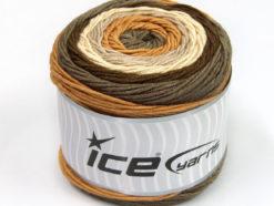 Lot of 2 x 200gr Skeins Ice Yarns CAKES ARAN Yarn Grey Brown Shades Cream