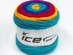Lot of 2 x 200gr Skeins Ice Yarns CAKES ARAN Yarn Gold Red Fuchsia Blue Turquoise
