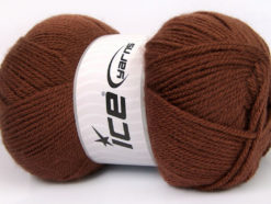 Lot of 4 x 100gr Skeins Ice Yarns GONCA Hand Knitting Yarn Brown